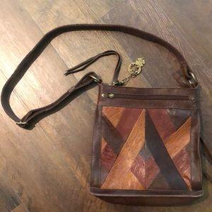 Lucky Brand Multi-Brown Leather Crossbody Purse
